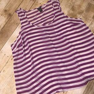 Purple stripe tank